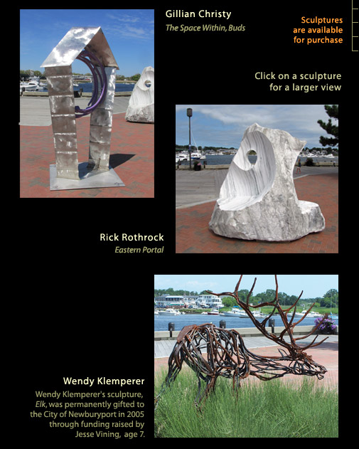 Sculptures by Rick Rothrock and Wendy Klemperer