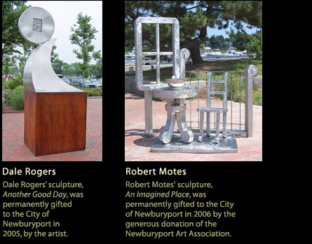Sculptures by Dale Rogers and Robert Motes